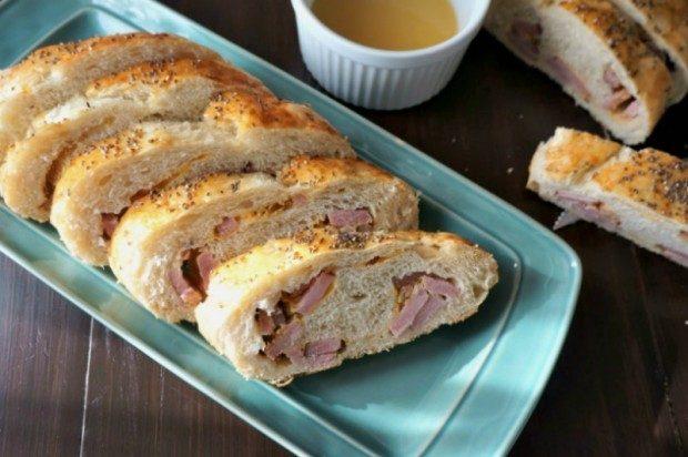 Horseradish and Honey Glazed Ham Bread