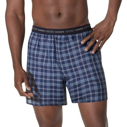 Men's Hanes Plaid Boxers - 5 Pairs Only $8.99! Ships FREE!