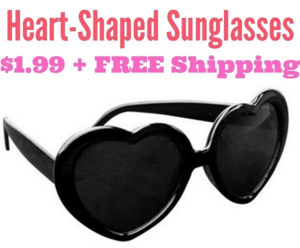 Heart-Shaped Sunglasses Only $1.99 + FREE Shipping!