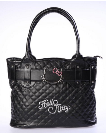 Hello Kitty Handbag Tote Shopping Hand Bag Black Just $19 Down From $50!  FREE Shipping!