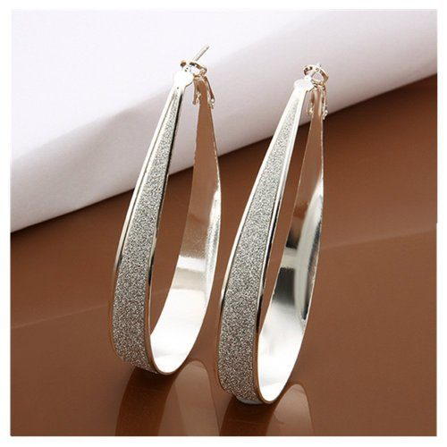 Sterling Silver Crystal Big Hoop Earrings Only $4.09 Shipped!
