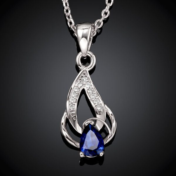 White Gold Plated Crystal Double Pendant Necklace Just $6.99! Down From $99.99! Ships FREE!
