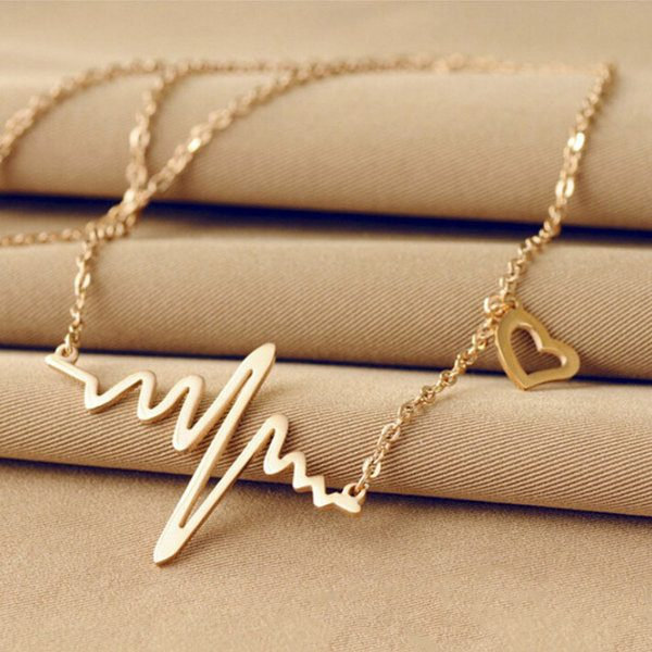 FREE Gold Tone Heartbeat Necklace! Down From $99.99!