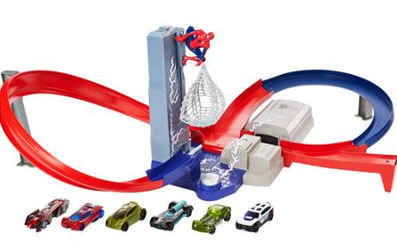 CLEARANCE - Hot Wheels Spiderman Speed Circuit Showdown Track Set Just $18.74 (reg $40)