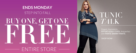 Lane Bryant Buy One Get One FREE Sale!