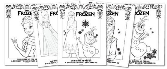 FREE Disney Frozen Printable Activity Sheets