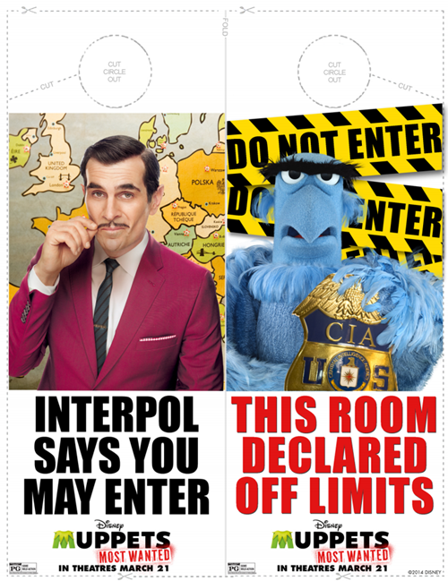 FREE Printable Muppets Most Wanted Activity Sheets!