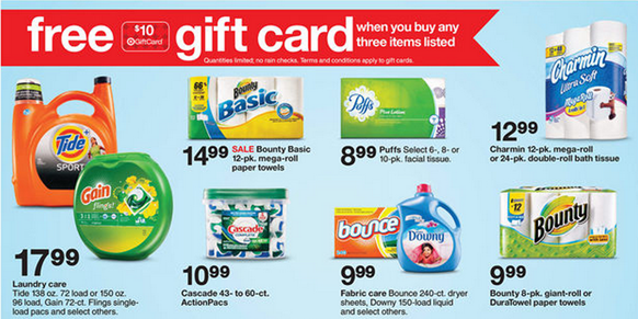 FREE $10 Target Gift Card With Purchase!