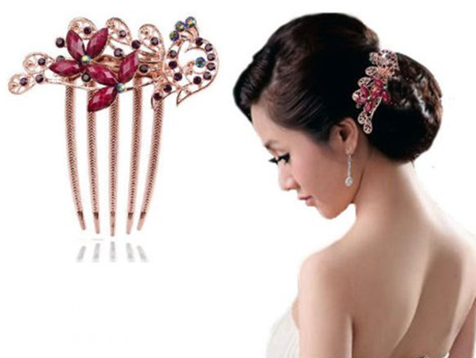 Beautiful Flower Hair Comb Clip Just $2.40 PLUS FREE Shipping!
