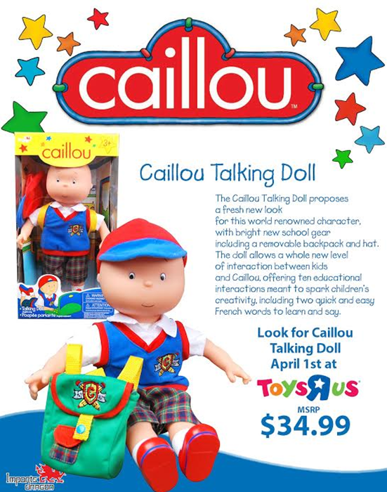 Calliou Talking Doll