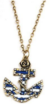 Bronze Anchor Necklace Just $2.99 PLUS FREE Shipping!