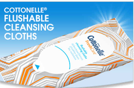 FREE Cottonelle® Flushable Cleansing Cloths!