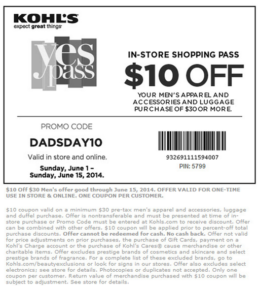 Kohl's $10 Off $30 And $15% Off Storewide!