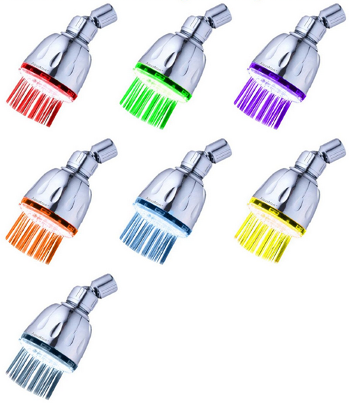 7 Color Changing LED Shower Head Just $8.95 Down From $29.95!