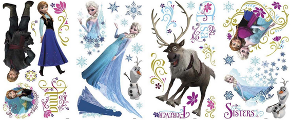 Disney's Frozen Peel And Stick Wall Decals Just $11.20 PLUS FREE Shipping!