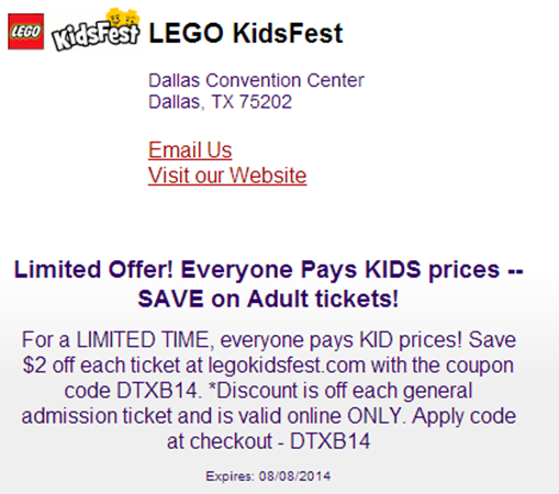 Dallas #LEGOKidsFest Ticket Giveaway!