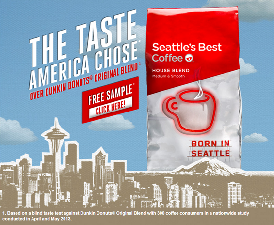 FREE Seattle's Best Coffee Sample!