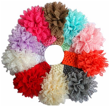10 Lace Flower Headbands Just $5.99 PLUS FREE Shipping!