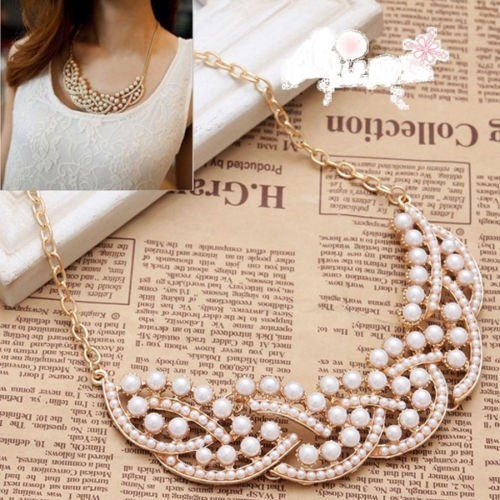 Imitation Pearl Bib Necklace Only $4.99!