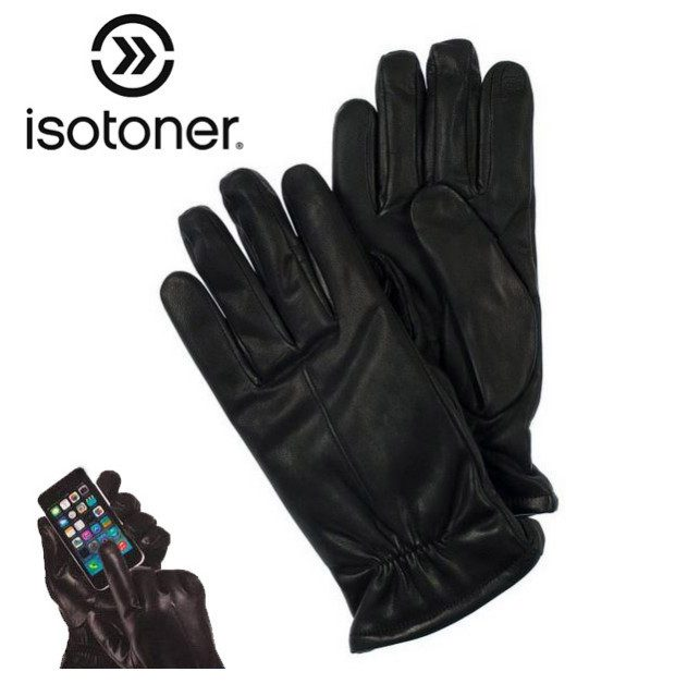 Isotoner Genuine Leather SmarTouch Gloves Just $9.99!  Ships FREE!