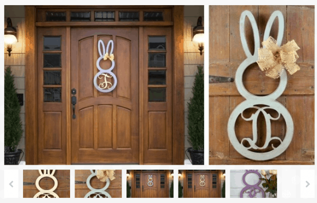 Unfinished Personalized Easter Door Decor ONLY $20 SHIPPED!