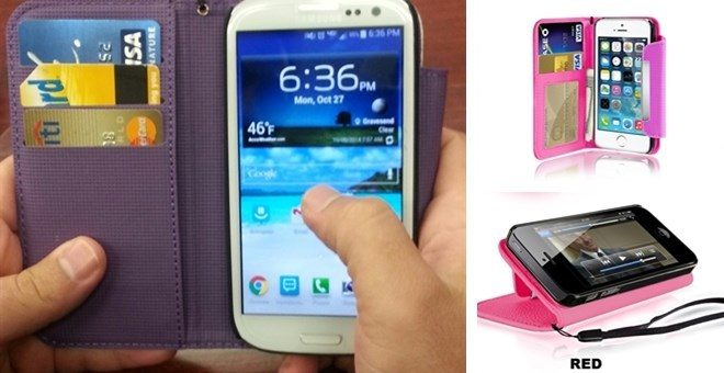 Multi-Color Wallet Cases for iPhone & Samsung Only $9.74 Shipped!