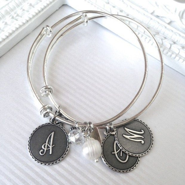 Mother's Day Initial Bangles - FREE Dangles Only $6.89!