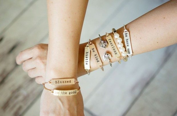 Stamped Sayings Bar Bracelets Only $6.99!