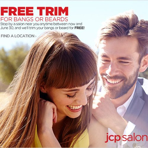 jc penney free beard or bang trim