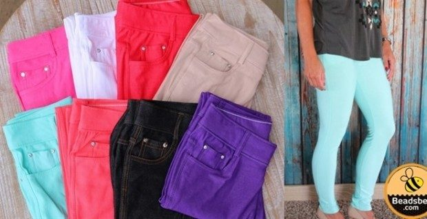 Perfect for Fall Colored Jeggings- S-3XL - Just $13.99!