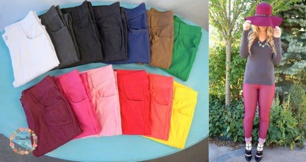 Spring Colored Jeggings Only $12.99!