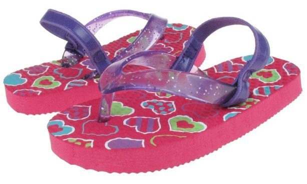 Glitter Jelly Toddler Girls Flip Flops Only $4.99!