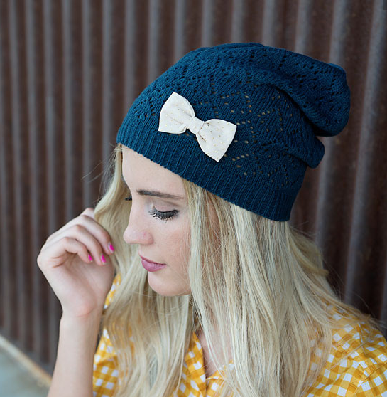 Judy Knit Beanie With Bow Just $19.95 Plus FREE Shipping!