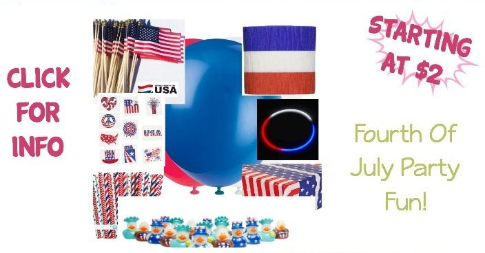Fourth Of July Party Fun! – Items Starting At $2!