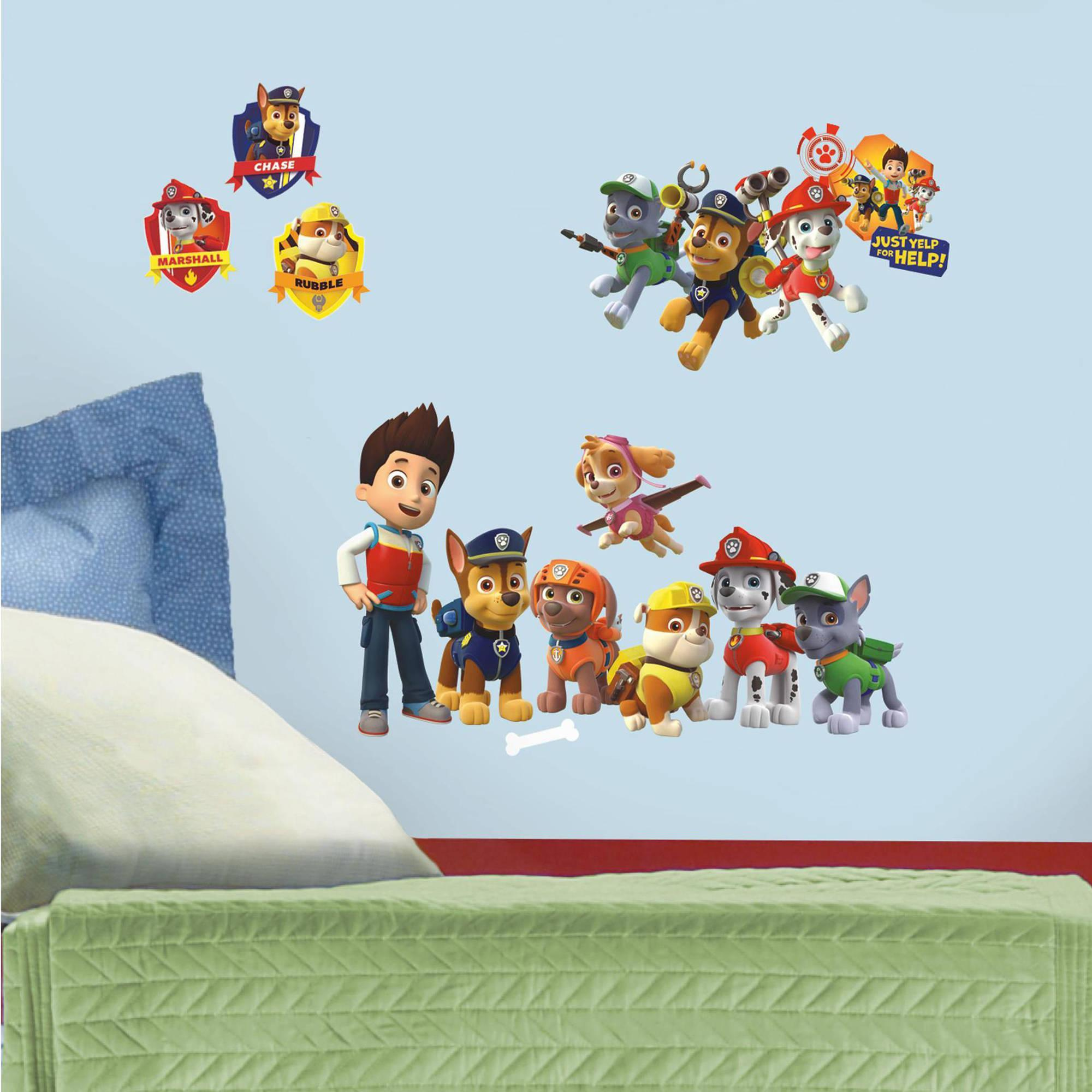 Paw Patrol Peel and Stick Wall Decals Just $8.88! Down From $13.99!