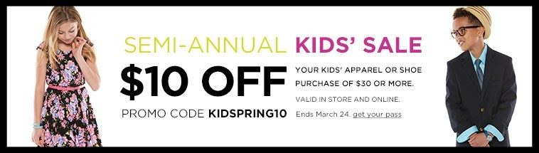 $10 Off $30 Kids' Apparel Or Shoes At Kohl's!