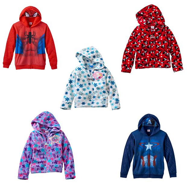 Kids Characters Fleece Jackets Just $7.06!