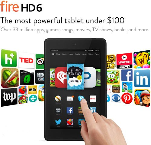 Kindle Fire HD6 Just $69.99 Shipped! (reg. $99.99)