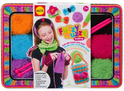 ALEX Toys Craft Fuzzy Wuzzy Knitting Kit With Needles, Yarn And Keepsake Tin Just $17 Down From $30!