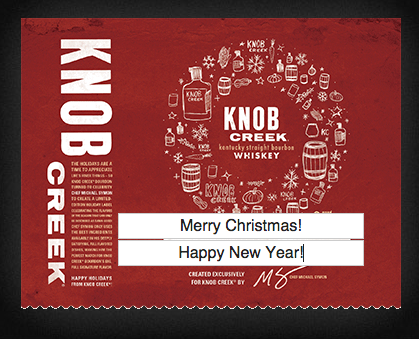 FREE Personalized Knob Creek Labels!