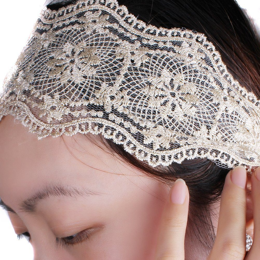 Lace Elastic Headband Only $1.66 + FREE Shipping!