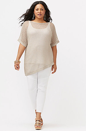 Metallic Off-Shoulder Pullover Sweater Only $29.97 Plus FREE Shipping To Store!
