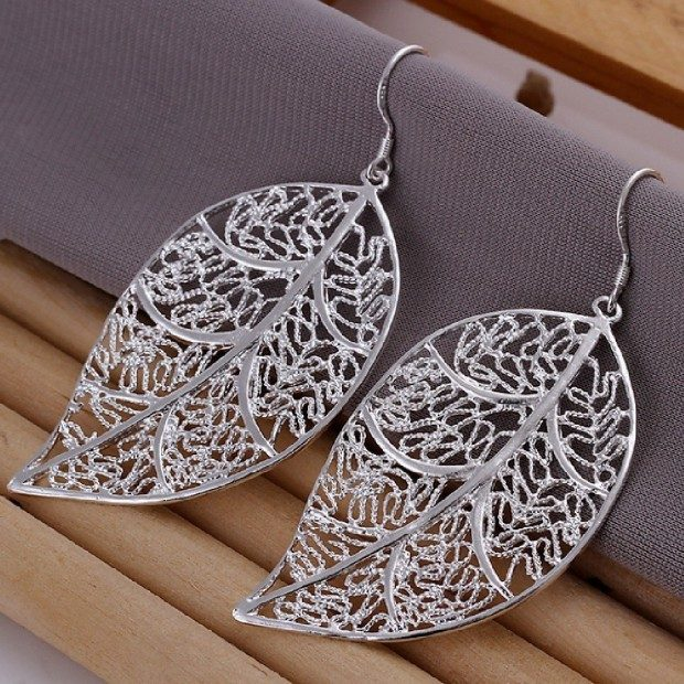 Filigree leaf Dangle Earrings Only $3.15!  Ships FREE!