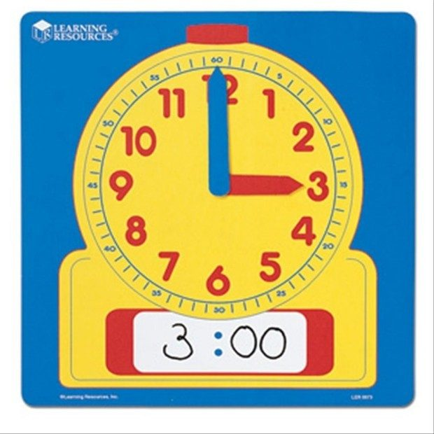 Learning Resources Write-On/Wipe Off Demo Clock Only $5.99!