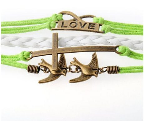 Leather Love Bracelet Only $2.74 + FREE Shipping!