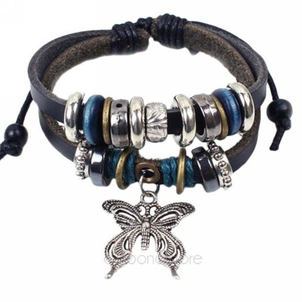 Vintage Multilayer Leather Beaded Bracelet With Just $5/16!  FREE Shipping!