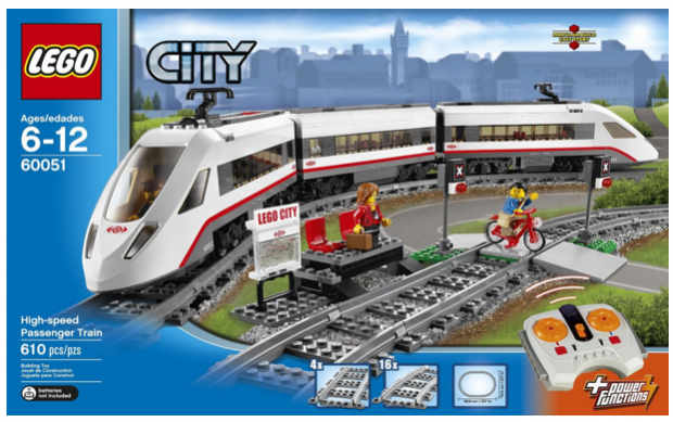 LEGO City Trains High-speed Passenger Train 60051 Building Toy Just $110 Down From $150!