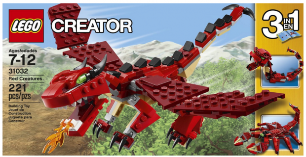 LEGO Creator Red Creatures Just $12 Down From $15!