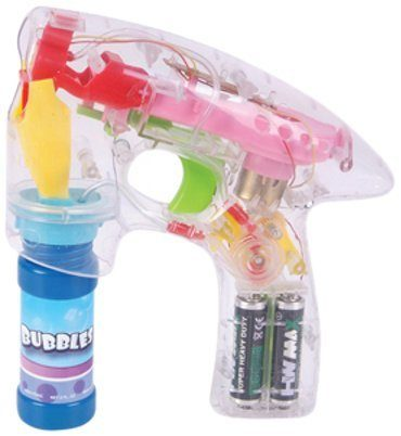 Transparent LED Bubble Gun Only $6.97!