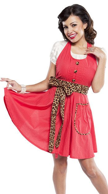 LINDY Leopard Apron Only $8.00!